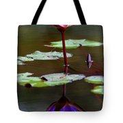 Rainy Day Lotus Flower Reflections IIi Tote Bag