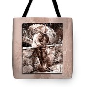 Rainy Day - Love In The Rain Style Mistyrose Tote Bag