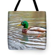Rainy Day Mallard Tote Bag