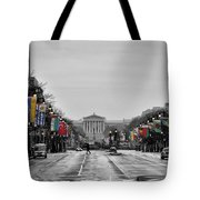 Rainy Day On The Parkway Tote Bag
