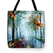 Rainy Day - Palette Knife Oil Painting On Canvas By Leonid Afremov Tote Bag