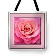 Rainy Day Rose Square Tote Bag