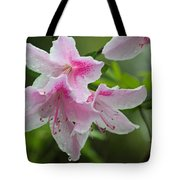 Rainy Day Series - Pink On Pink Azaleas Tote Bag