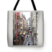Rainy Day Shopping Tote Bag