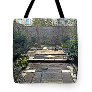 Rainy Day With Rabbit And Chair Tote Bag