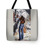 Rainy Day - Woman Of New York 15 Tote Bag