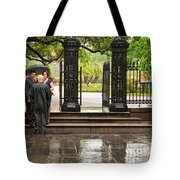 Rainy Destination Wedding In Jackson Square New Orleans Tote Bag