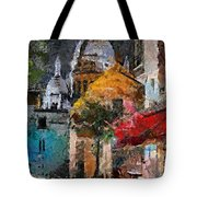 Rainy Evening In Montmartre Tote Bag