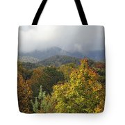 Rainy Fall Day In The Mountains Tote Bag
