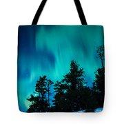 Rainy Lake Lights Tote Bag