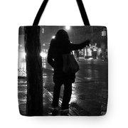 Rainy Night - Hailing A Cab Tote Bag