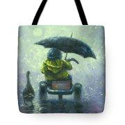 Rainy Ride Tote Bag