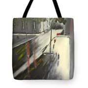 Rainy Street In Melbourne Tote Bag