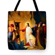 Raising Of Lazarus Tote Bag