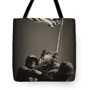 Raising The Flag On Iwo - Front Tote Bag