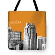 Raleigh Skyline - Dark Orange Tote Bag