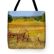 Ranch And Wildflowers And Old Implement 2am-110547 Tote Bag