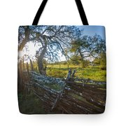 Ranch Fence Tote Bag
