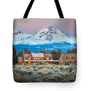 Ranch House And Sisters Tote Bag