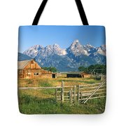 1m9392-ranchland And The Tetons Tote Bag