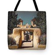 Ranchos Gate In Gum Bichromate Tote Bag