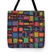 Random Cubes Tote Bag