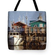 Randys Whale Watching And Fishing Trips Watercolor Tote Bag