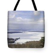 Rangeley Maine Winter Landscape Tote Bag