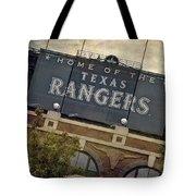 Rangers Ballpark In Arlington Color Tote Bag