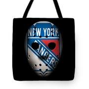 Rangers Goalie Mask Tote Bag