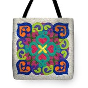 Rangoli Made With Powder Colour Tote Bag