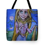 Rapunzel In A Botticelli Style Tote Bag