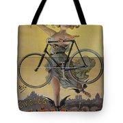Rare Vintage Paris Cycle Poster Tote Bag