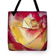 Rasberries And Cream Painterly Tote Bag