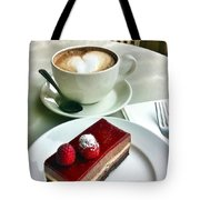 Raspberry Delice And Latte Tote Bag