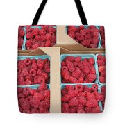 Raspberry Pints In Cardboard Flats Tote Bag