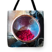 Raspberry Reflections Tote Bag