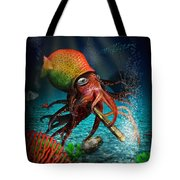 Rasta Squid Tote Bag