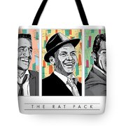 Rat Pack Pop Art Tote Bag by Jim Zahniser