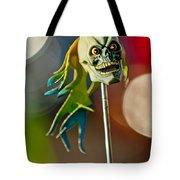 Rat Rod Antenna Skull  Tote Bag