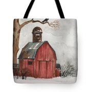 Raven And The Red Barn Tote Bag
