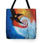 Raven In The Swirl Tote Bag
