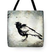 Raven On Blue Tote Bag