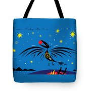 Raven Stealing The Sun Tote Bag
