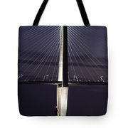 Ravenel Bridge Night View Tote Bag