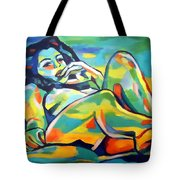 Raw Light Spills Tote Bag