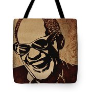 Ray Charles Original Coffee Painting Tote Bag