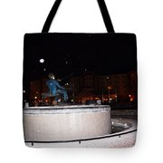 Ray Charles Statue In A Odd Weather Event Tote Bag