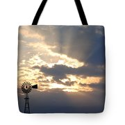 Rays Behind The Mill Tote Bag