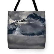 Rays Of Light On The Glaciers Tote Bag